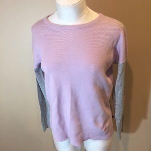 Vince Sweater Sz XL Lavender/Gray Cotton